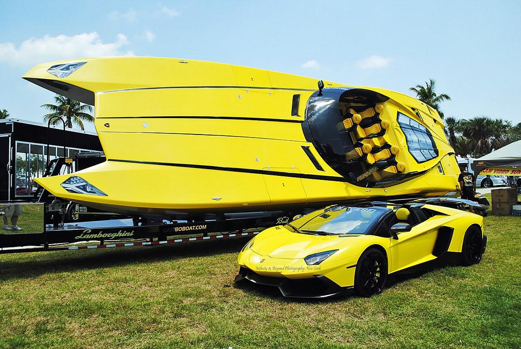 Lamborghini Aventador And Powerboat Replica Burgerfi