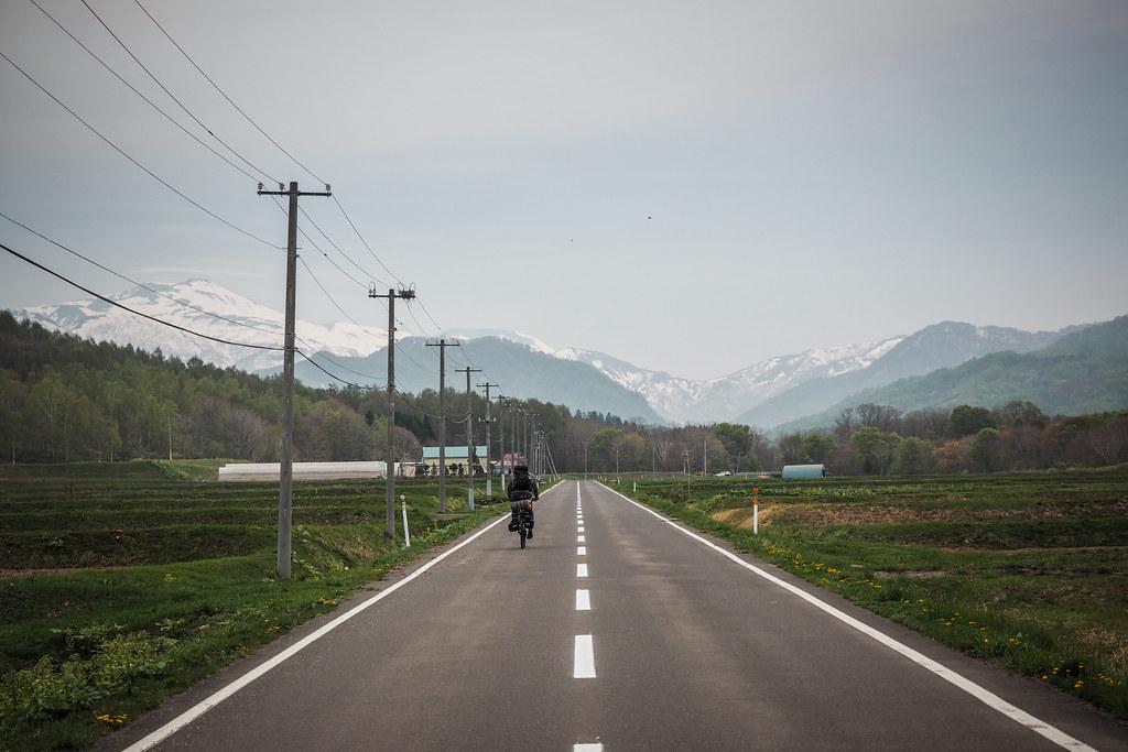 On route 345 north of Kitahiyama, Hokkaido, Japan
