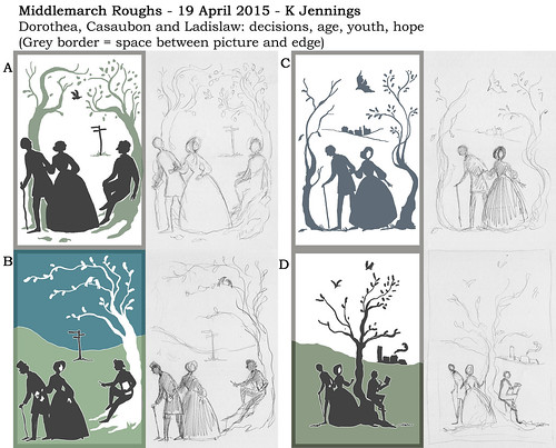 Middlemarch roughs for Litographs