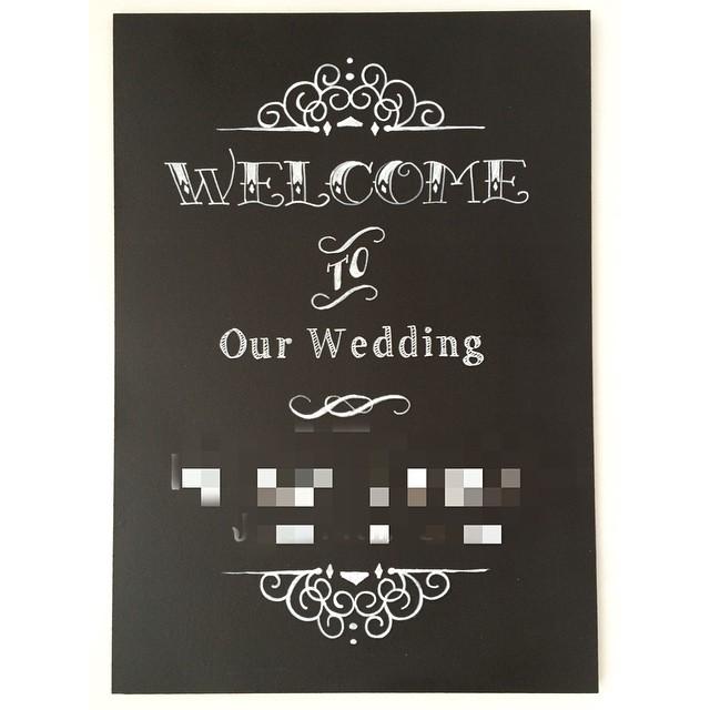 セミカスタムウェルカムボード♡ #ウェルカムボード #チョークアート#welcomeboard #welcomesign #chalkboard