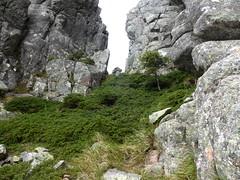 """Dans la descente de Punta Buvona : la """"brèche étroite"""""""