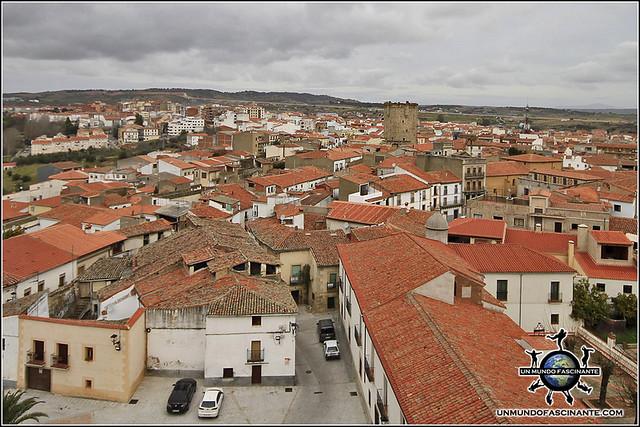 Vistas Campanario Catedral de Coria, Cáceres, Extremadura. España. Spain.