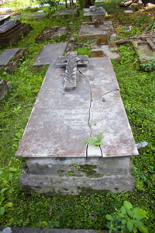 Graves in Greek Cemetery Kolkata