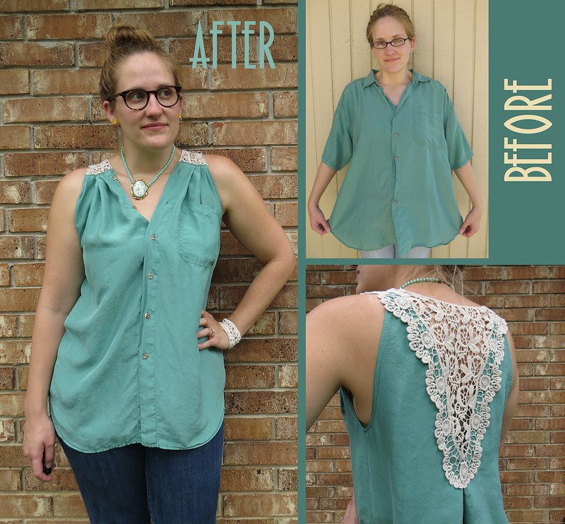 Silk and Lace Blouse - Before & After