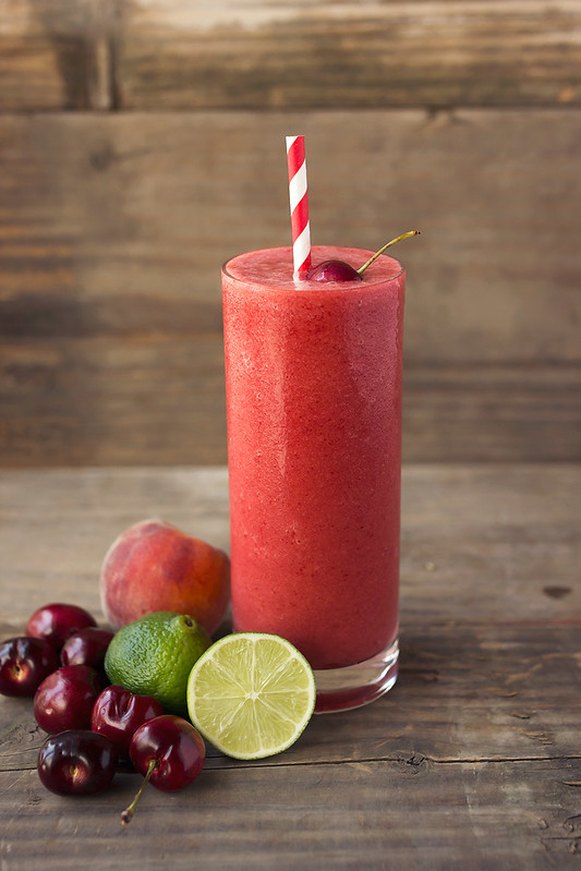 Peach Cherry Frozen Limeade