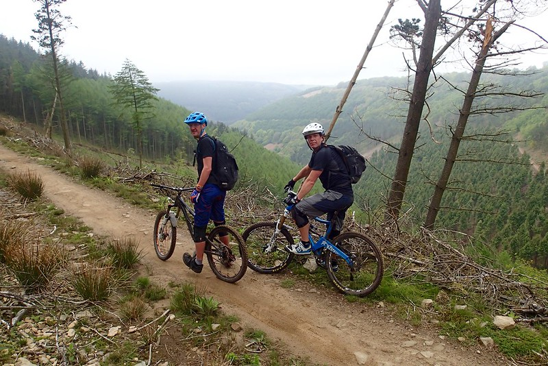 Most of Cwmcarn.. the bits they weren't logging