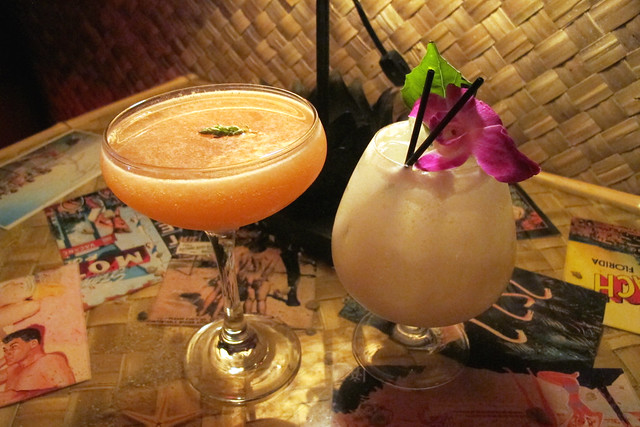 Drinks at Bootlegger Tiki