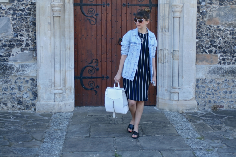 primark stripy midi dress