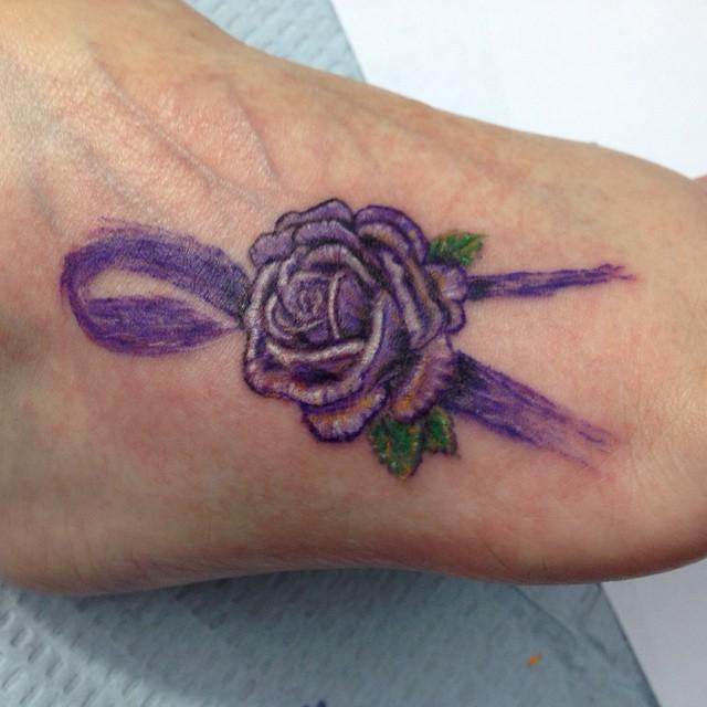 Fibromyalgia Ribbon Tattoo Tattoolife Tattooshop Flow Flickr