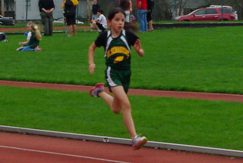 rosie running to the finish line