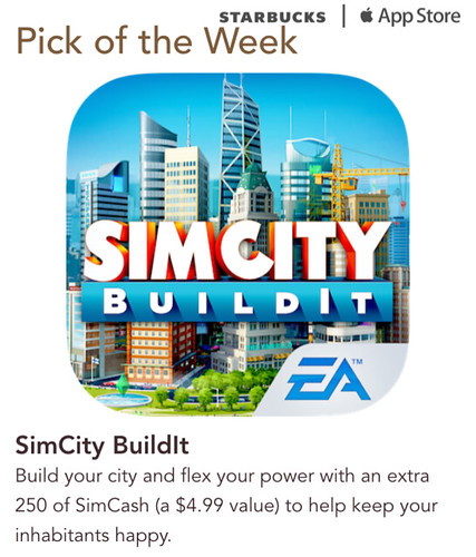 Starbucks iTunes Pick of the Week - SimCity BuildIt