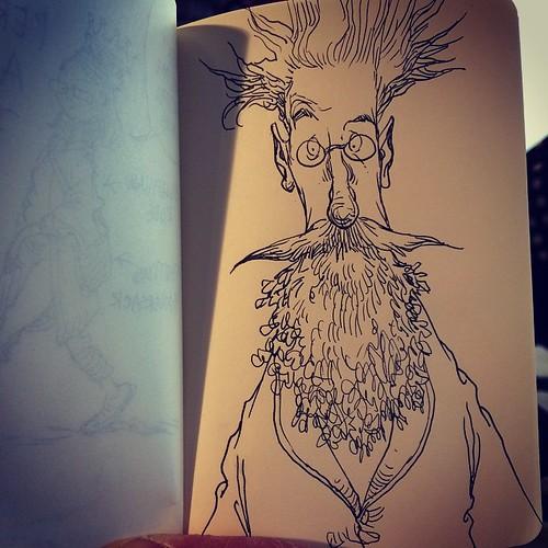 Chris Riddell doodle