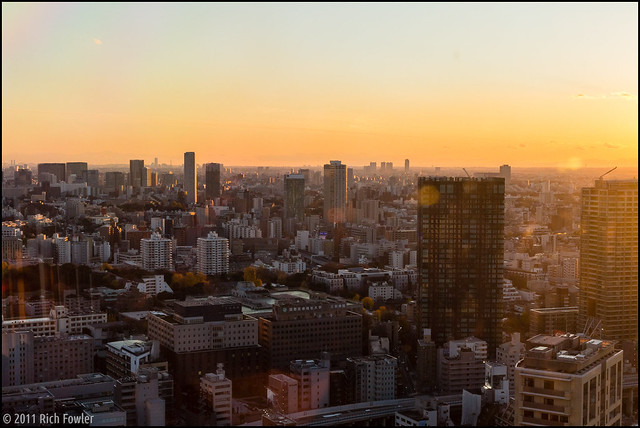 Tokyo Skyline at Sunset from Tokyo Tower