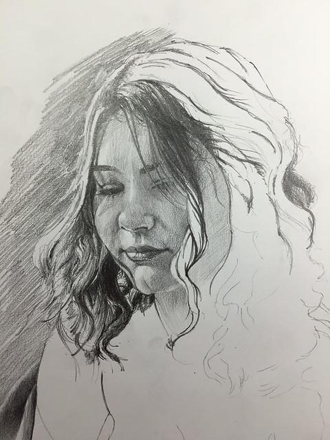 2B pencil portrait by Mike Lamble - 2