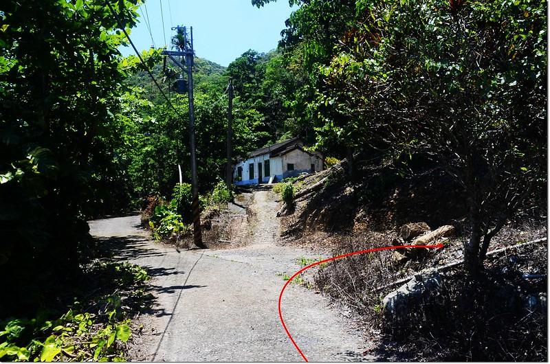 助矢山登山步道岔