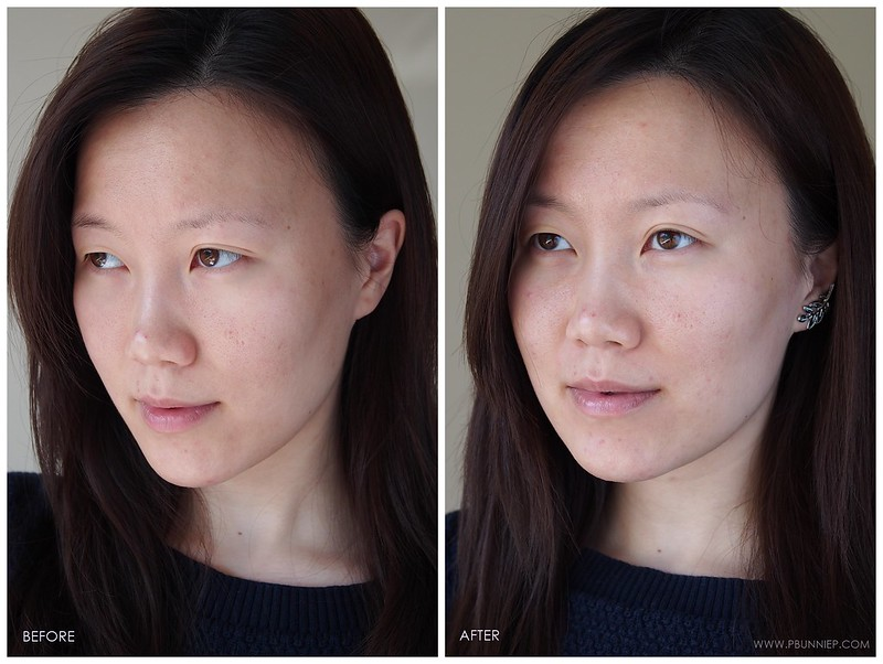 Guerlain BlancDePearl Review beforeafter 02