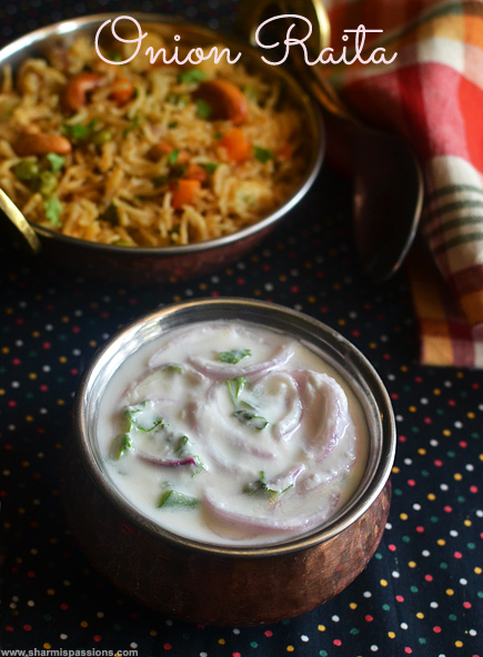Onion raita recipe sidedish for biryanipulao sharmis passions onion raita recipe forumfinder
