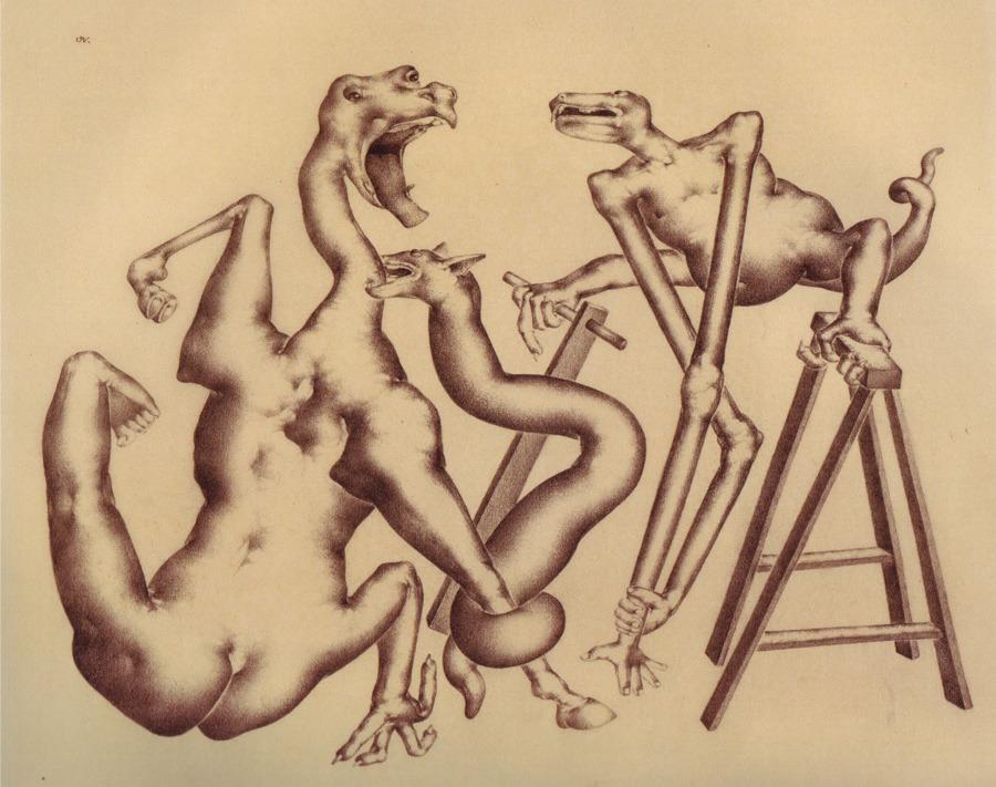 Otto Neumann - Grotesques Biting, late 1920's