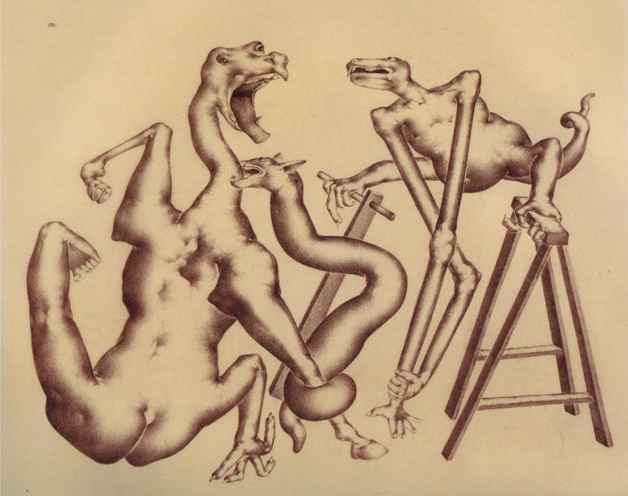 Otto Neumann - Grotesques Biting, late 1920's