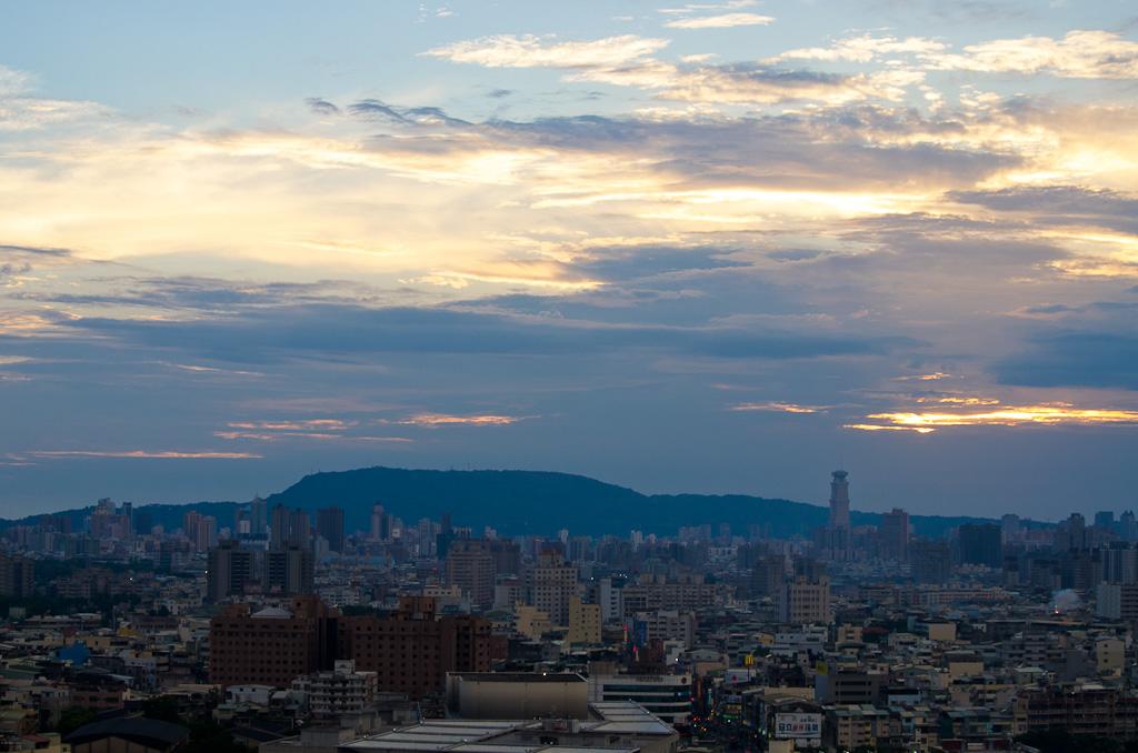 自家陽台拍夕陽