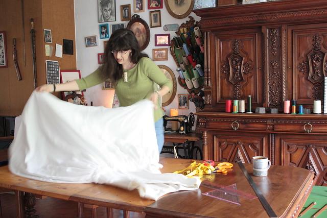 Dans l'atelier de robes de mariée à Grenoble, chez Green Martha