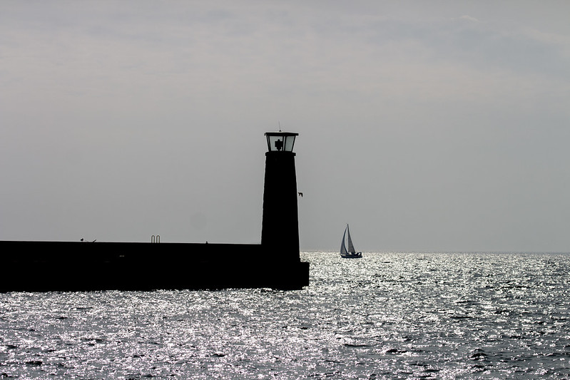 Port Lighthouse in Gdynia - sunlight