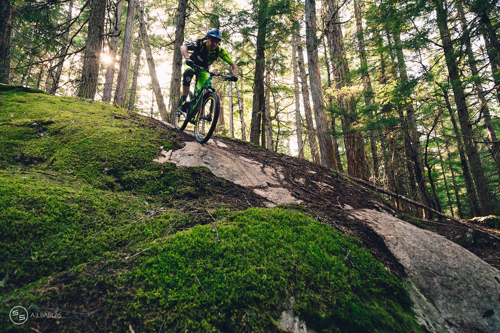 Dylan Wolsky and low sun on the Westside of Whistler
