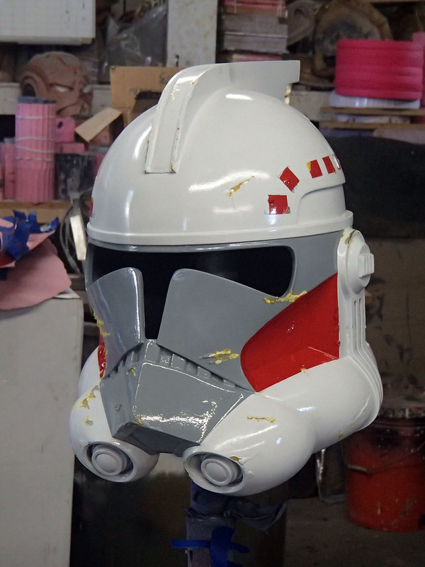 ARC Trooper Hammer Helmet Masking Removed Side
