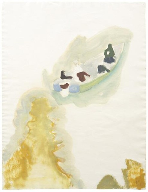 Peter Doig, Cyril's Bay, 2008, Oil and graphite on paper, Sold for $70,000