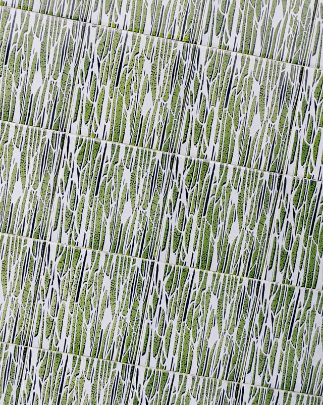 retro green tiles