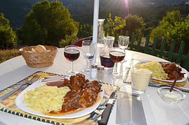 Lamb in sauce, L'Osteria, Olmi Cappella, Corsica