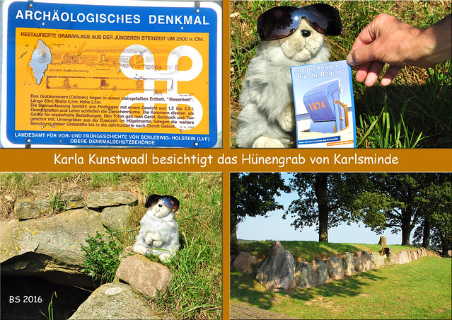 Magalithkultur Steinzeit Norddeutschland Hünengrab Dolmen Langbett Waabs-Karlsminde Karla Kunstwadl ... Fotos und Collagen: Brigitte Stolle, September 2016