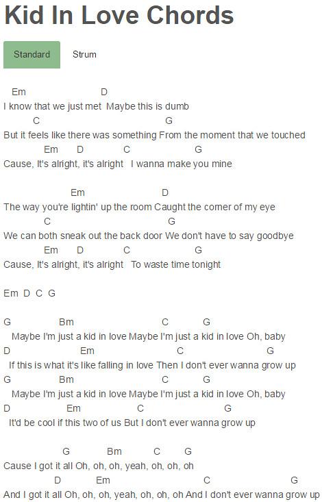 Kid In Love Chords Shawn Mendes   Kid In Love Chords Shawn M…   Flickr