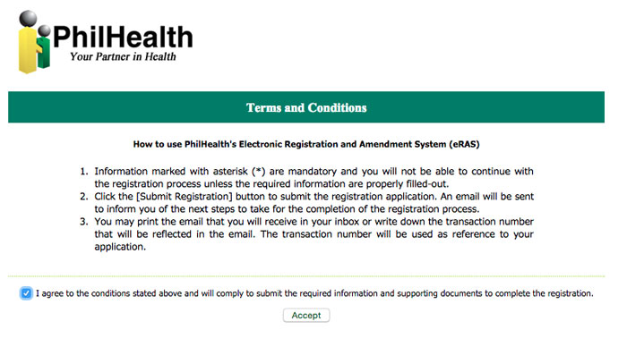 How to Register on PhilHealth online step 2