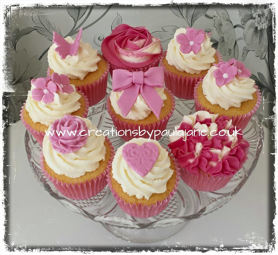 Pink Flower Cupcake Mix Paula Town Flickr