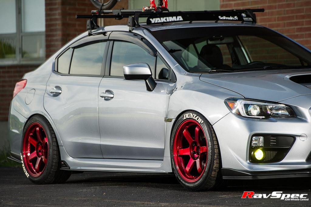 RAYS TE37SL Hyper Red - Subaru WRX 15 | RAYS TE37SL Hyper ...