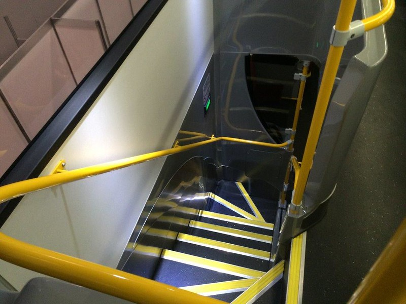 Melbourne double decker bus - stairs