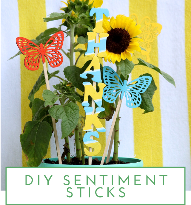 DIY Sentiment Sticks