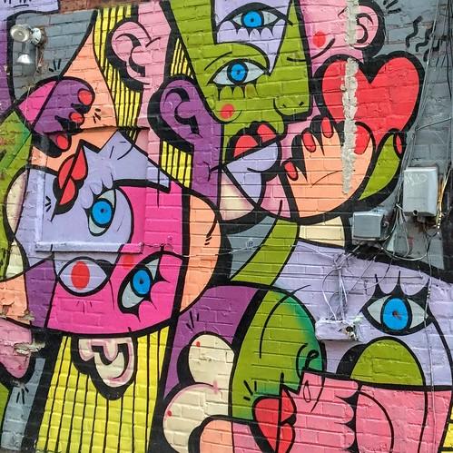Un graffiti aux airs de Picasso, sur Graffiti Alley, Toronto