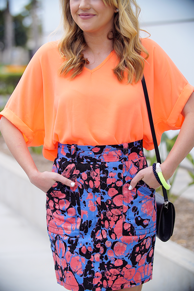 chic neon outfit