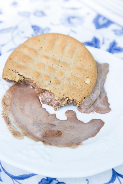 PeanutButter and Chocolate ice cream sammies
