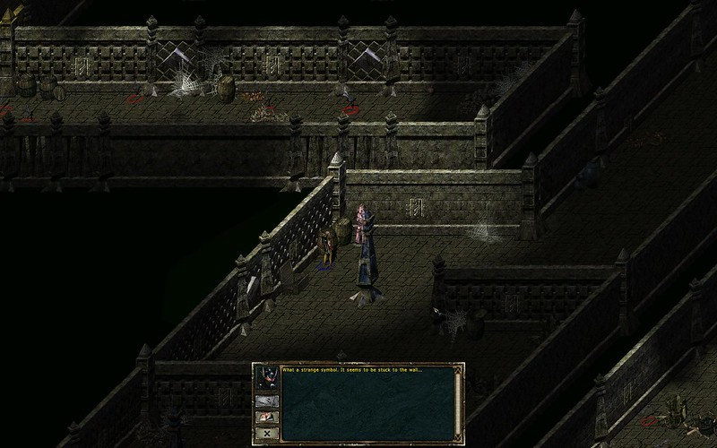 Act 3 Catacombs Wisdom Level - touching symbol lets you see behind walls