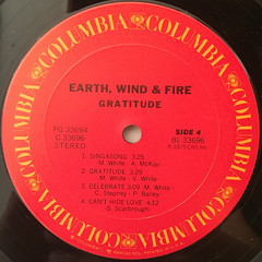 EARTH,WIND & FIRE:GRATITUDE(LABEL SIDE-D)