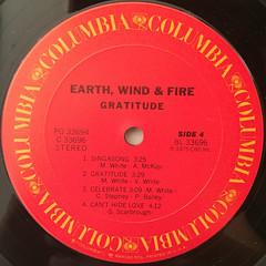 EARTH,WIND & FIRE:GRATITUDE(LABEL SIDE-D)
