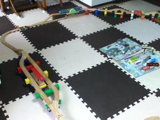 レゴと木製レール1