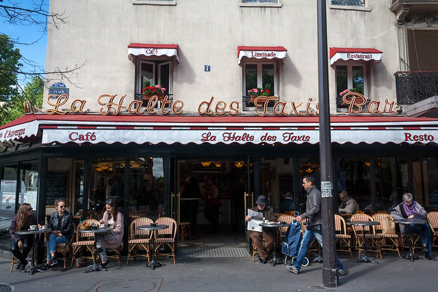 """La Halte des Taxis Bar"" cafe, Paris"