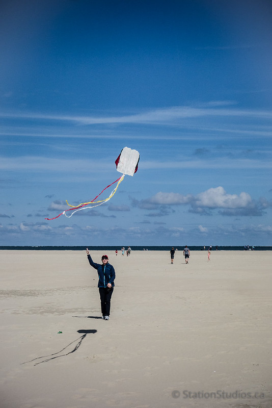 Robin Kiteflying on Texel