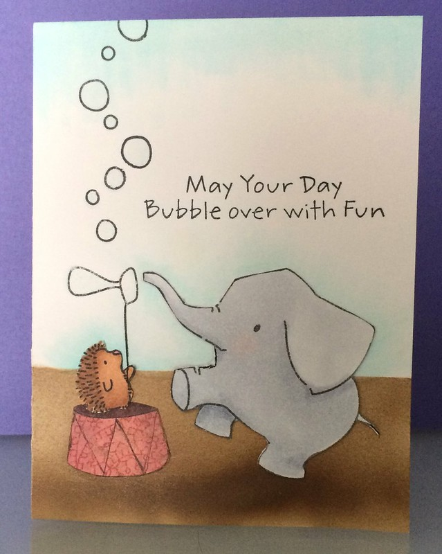 Blowing Bubbles with an Elephant
