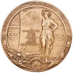 Huntington Award medal reverse