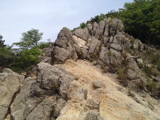 鎌ヶ岳 武平峠ルート 岩場